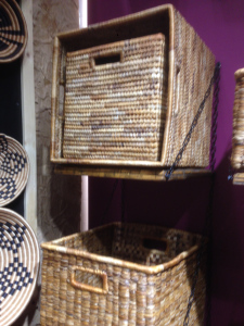 Working with the agent for these wonderful handmade baskets for a large custom order